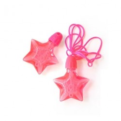 4 colliers étoile  bulles de savon