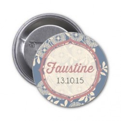 "Badge à personnaliser ""Faustine"""