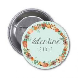 "Badge à personnaliser ""Valentine"""