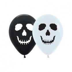 Ballon tête de mort blanc