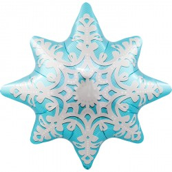 """Ballon mylar """"Flocon-étoile des neiges"""""""