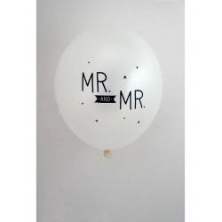 "6 ballons ""Mr and Mr"""