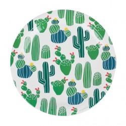 8 assiettes en carton - cactus