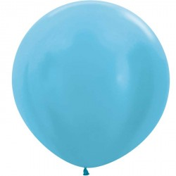 Ballon géant -  Bleu caraibes satin