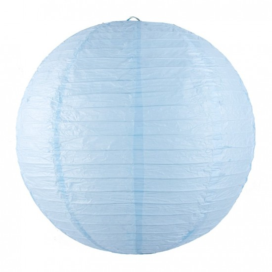 un lanterne chinoise bleu clair pour d corer une fete un anniversaire. Black Bedroom Furniture Sets. Home Design Ideas