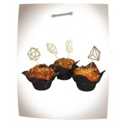4 cake toppers diamant or