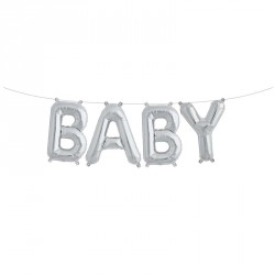 "Ballon kit message "" BABY """
