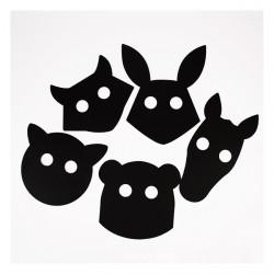 Masques animaux à dessiner