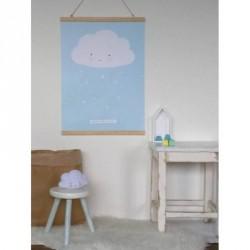 poster nuage bleu