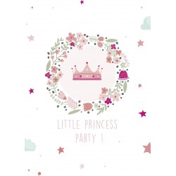 8 cartons d'invitation anniversaire princesse