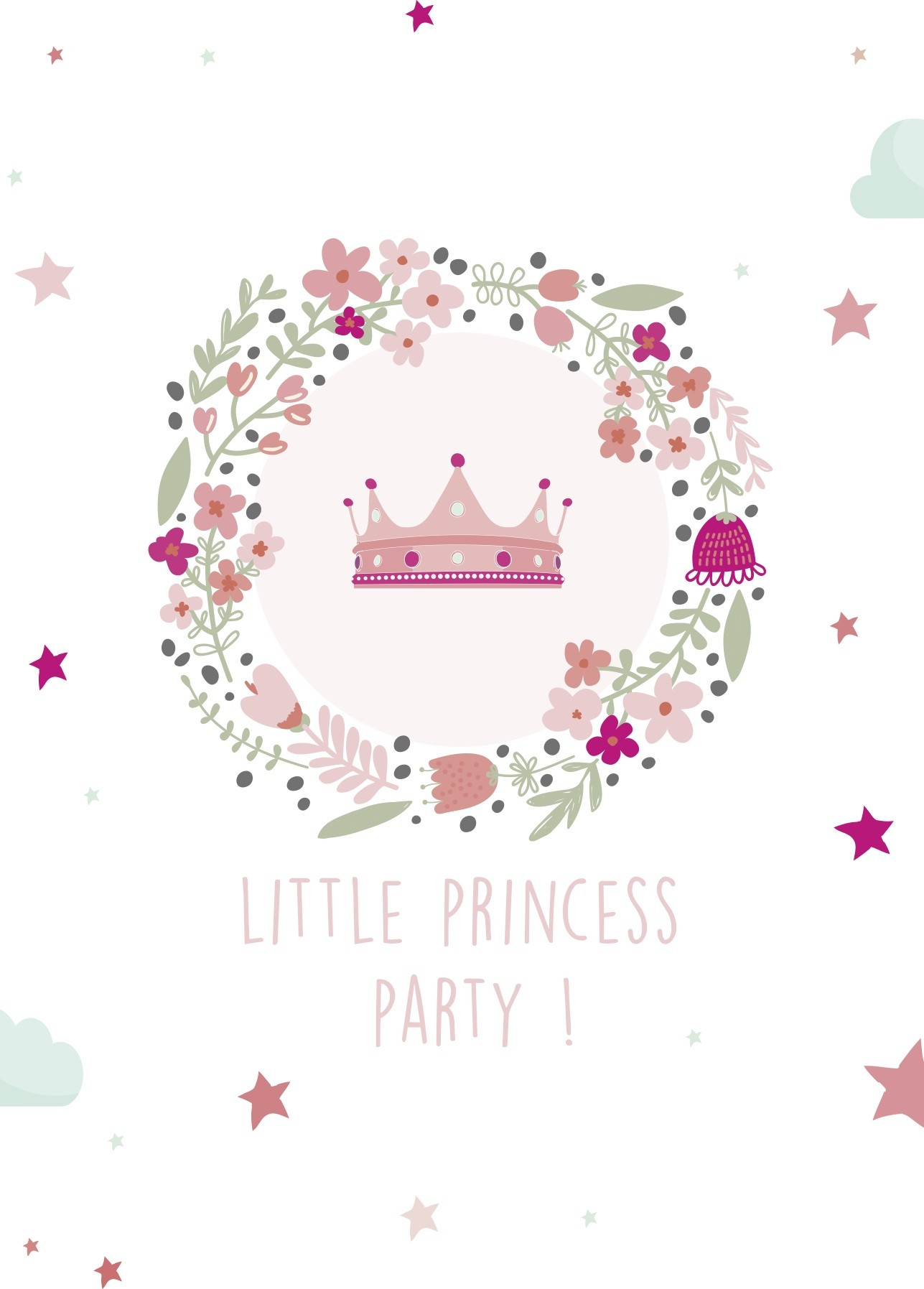 8 Cartons D Invitation Anniversaire Princesse