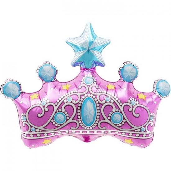 Ballon mylar couronne princesse happy family - Couronne princesse a decorer ...
