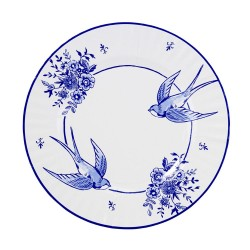 8 assiettes porcelaine bleue