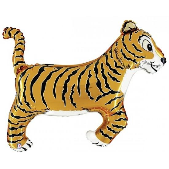 Ballon aluminium mylar tigre