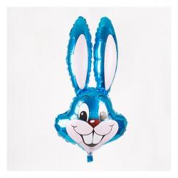 Ballon aluminium mylar-Lapin bleu