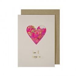 Carte coeur confetti Meri Meri
