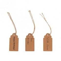 Set de 15 Gift tags -Naturel