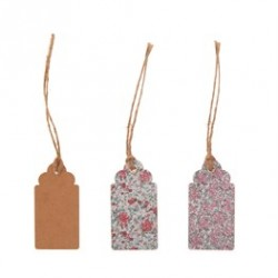 Set de 15 Gift tags -Liberty