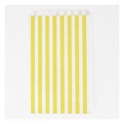 10 pochettes - rayures jaunes