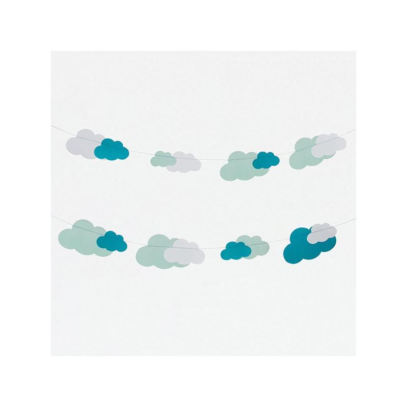 guirlande nuage happy family. Black Bedroom Furniture Sets. Home Design Ideas