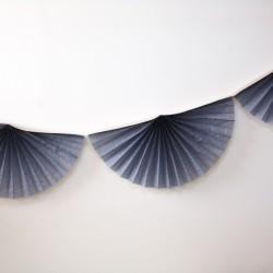 Guirlande rosace en papier - Noir