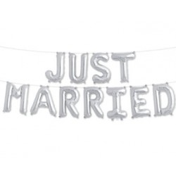 "Guirlande mylar aluminium ""Just Married"""