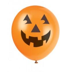10 Ballons Halloween citrouille
