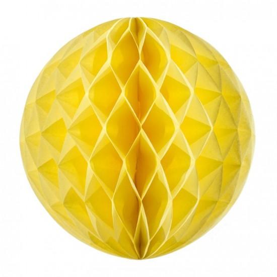 Boule alvéolée jaune or