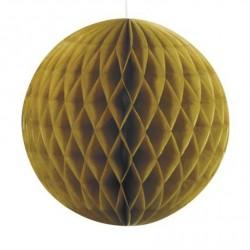 Boule alvéolée dorée-