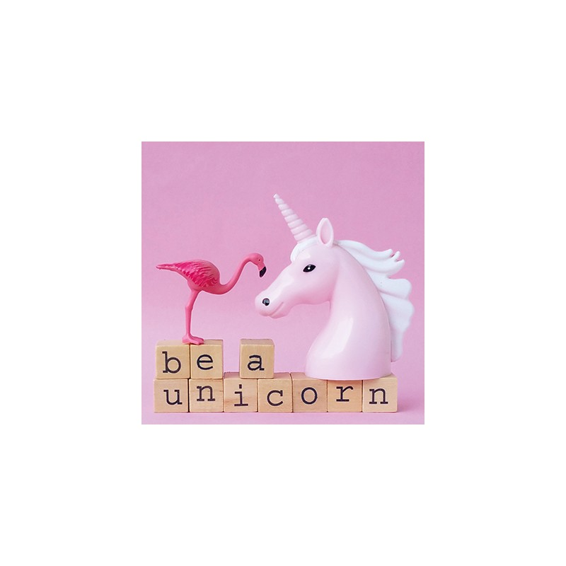 Carte Flamant Rose Be A Unicorn Happy Family