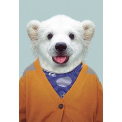 Carte Zoo-Ours blanc gilet