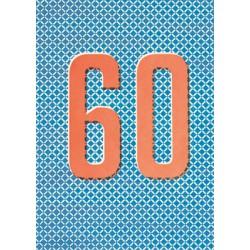 "Carte Anniversaire ""60-sixty"""