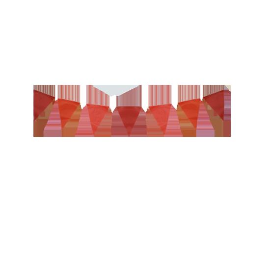 Guirlande fanions papier rouge