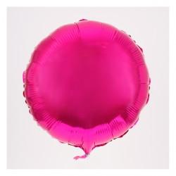 Ballon mylar rond fuschia