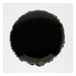 Ballon mylar rond noir