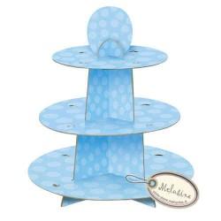 Stand  à cupcake bleu