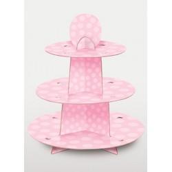 Stand  à cupcake rose