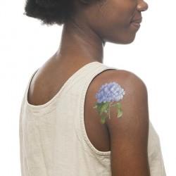 Tattoo éphémère: Fleur BLUE HYDRANGEA
