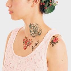 1 planche de tattoo: Floral set