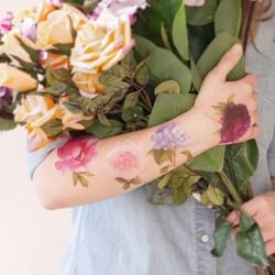 1 planche de tattoo: Fleur mix