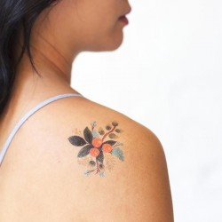 Tattoo éphémère - Lot de 2 - Botanical Clementine