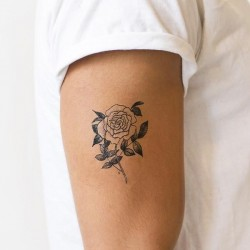 Tattoo éphémère  - Lot de 2 - Rose