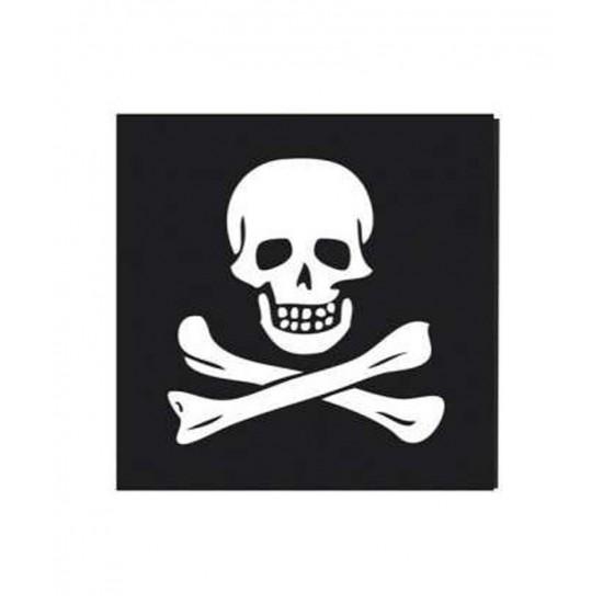 12 serviettes Pirate 33x33cm