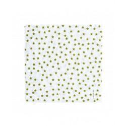 20 serviettes en papier - étoile dorée