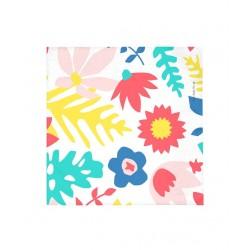 20 serviettes en papier - fleurs tropicales