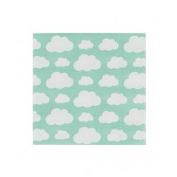 20 serviettes en papier - nuage 33x33cm
