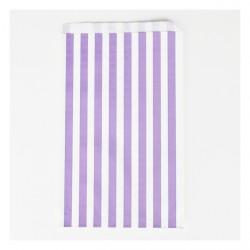 10 pochettes - rayures violettes