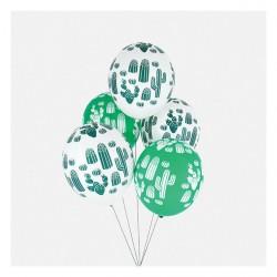 5 ballons imprimés - Cactus