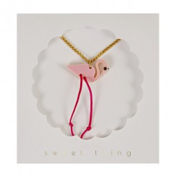 Collier flamingo