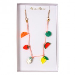 Collier charms fruits